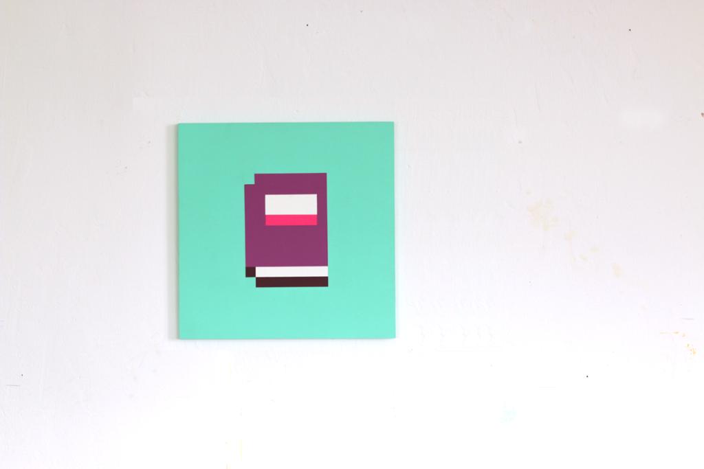 eigenschaften erfahrung acrylic fine pixel art painting ivo zibulla leipzig