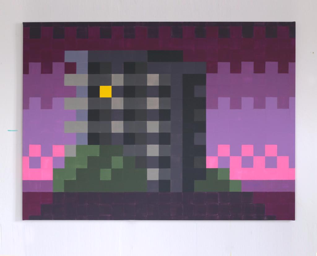 heimat acrylic fine pixel art painting ivo zibulla leipzig
