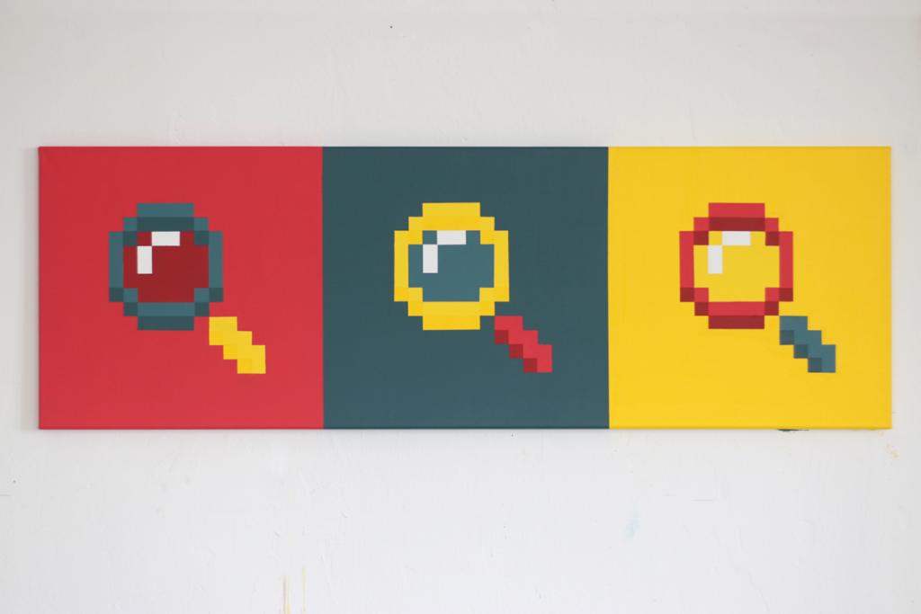 acrylic pixel art painting ivo zibulla leipzig