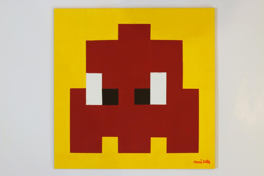 pacmocalypse krieg acrylic fine pixel art painting ivo zibulla