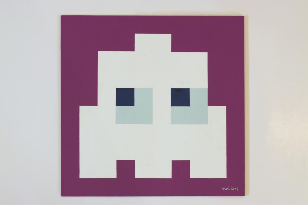 pacmocalypse sieg acrylic fine pixel art painting ivo zibulla