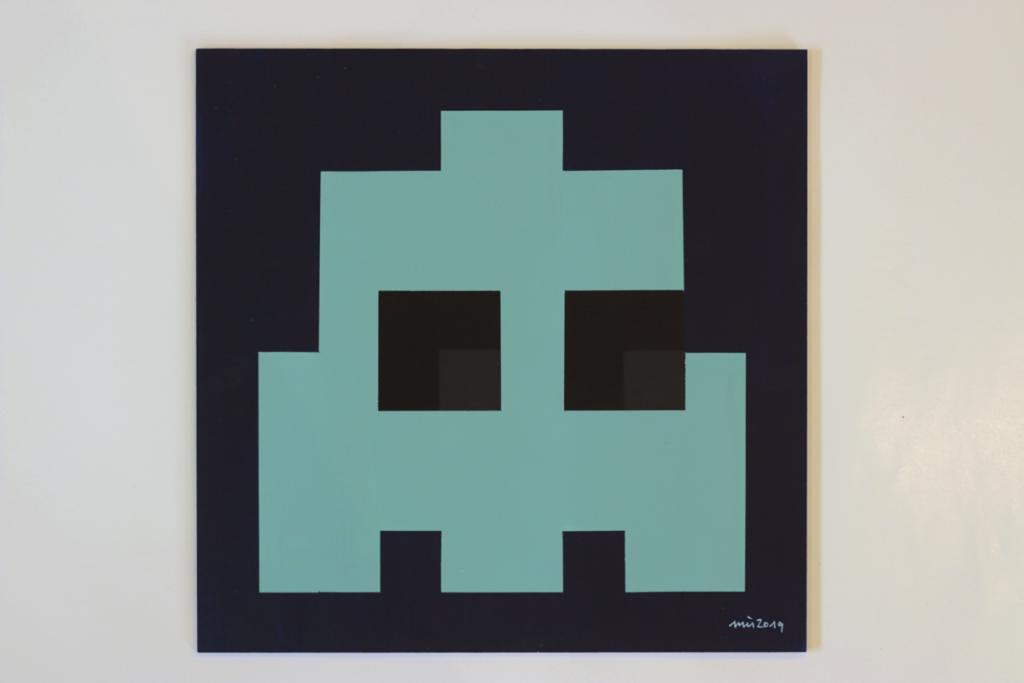 pacmocalypse tod acrylic fine pixel art painting ivo zibulla
