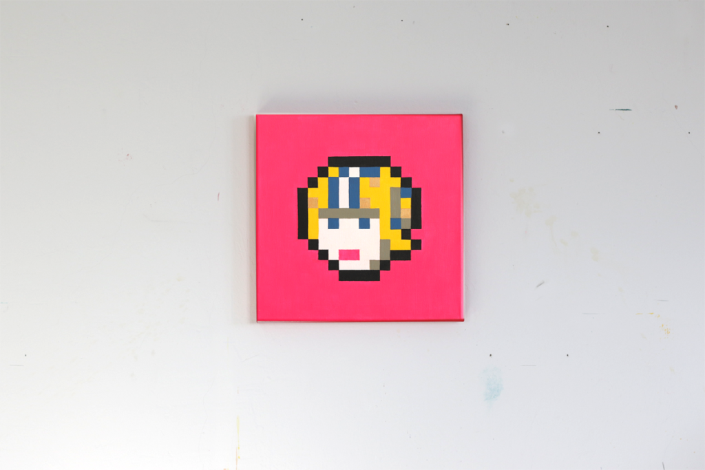 commander keen shareware nintendo pixel heroes pixelart acrylic painting ivo zibulla leipzig