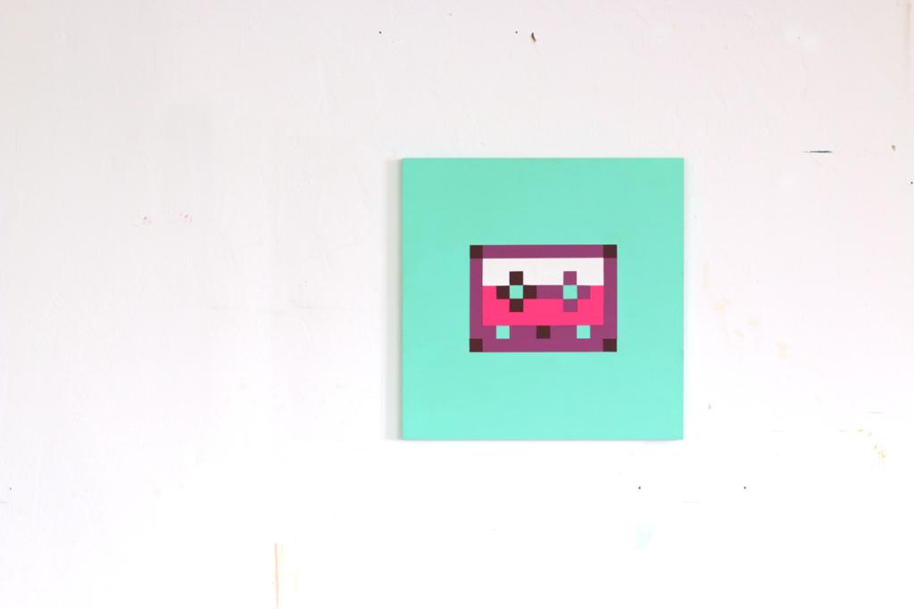 eigenschaften charakter acrylic painting pixel fine art ivo zibulla leipzig