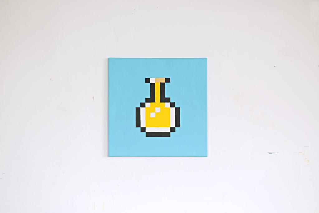 integrieren acrylic fine pixel art painting ivo zibulla leipzig