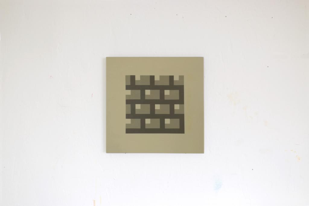 oeffnung begegnung acrylic fine pixel art painting ivo zibulla leipzig