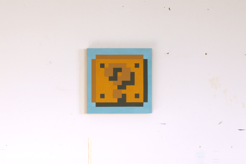 pixel blocks verletzlichkeit acrylic pixel fine art painting ivo zibulla leipzig