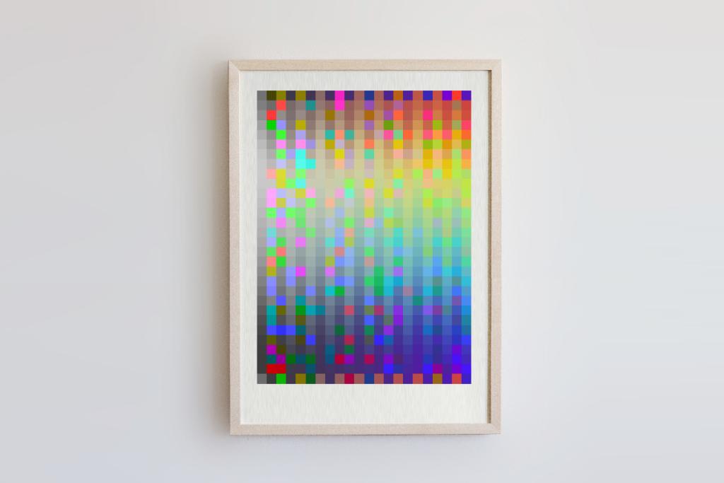 limited edition digital fine pixelart print nieseln ivo zibulla leipzig