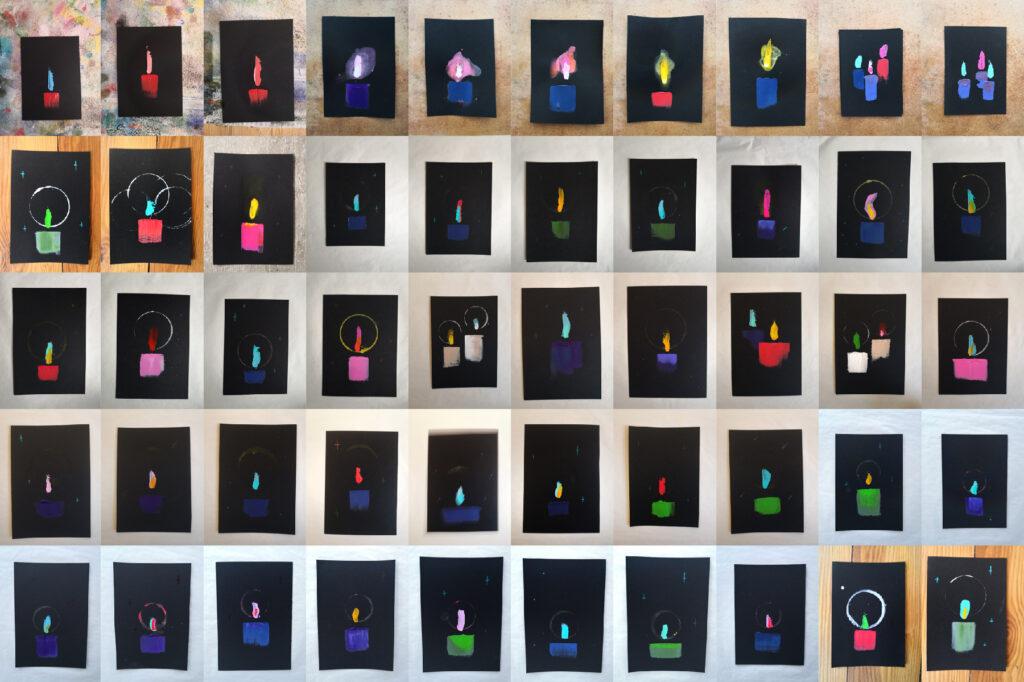 kerzen licht candle light acrylic painting spiritual artwork ivo zibulla leipzig